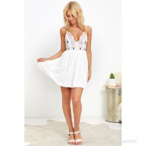 Lulus Embroidered White Dress